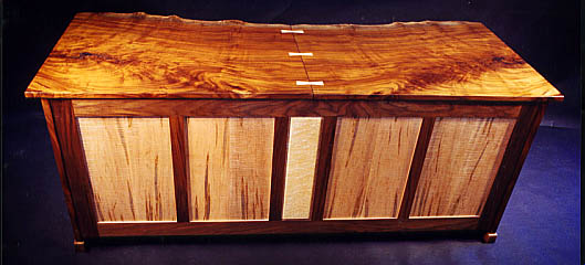 Custom Contemporary Rustic Claro Walnut Slab Desk 3
