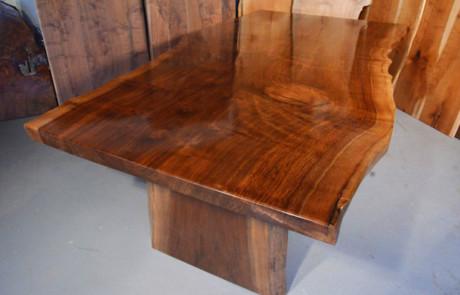 Custom Contemporary Rustic Claro Walnut Slab Table The Rauff Table 1