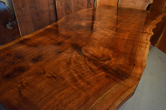 Custom Contemporary Rustic Claro Walnut Slab Table The Rauff Table 2