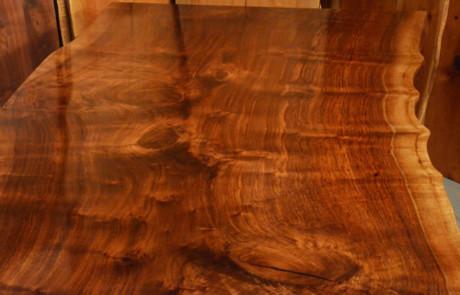 Custom Contemporary Rustic Claro Walnut Slab Table The Rauff Table 3