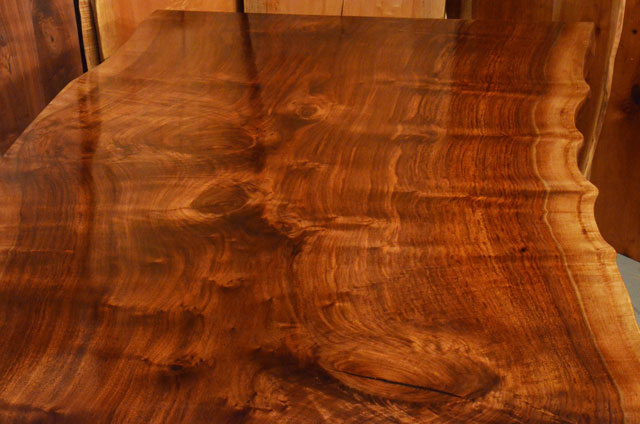 Custom Contemporary Rustic Claro Walnut Slab Table The Rauff Table 3