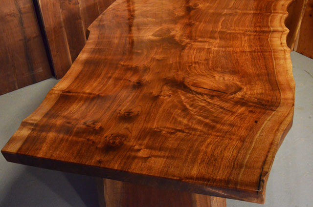 Custom Contemporary Rustic Claro Walnut Slab Table The Rauff Table 4