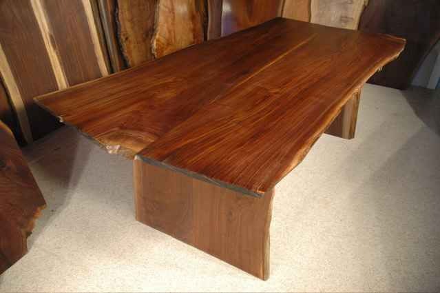 Walnut Slab Custom Made Dining Room Table