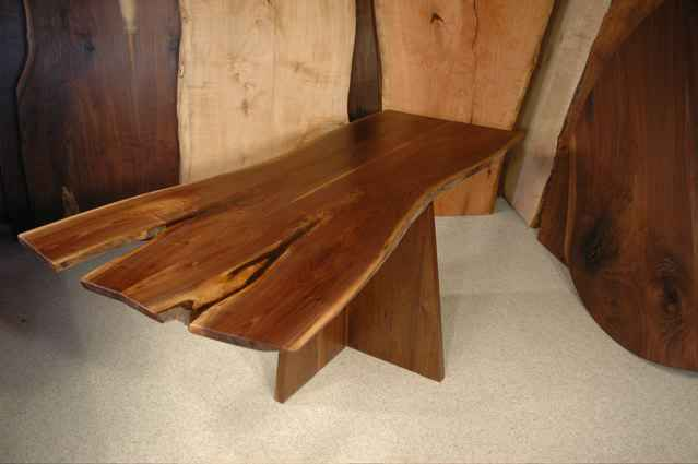 Double Crotch Slab Walnut Slab Custom Made Dining Room Table