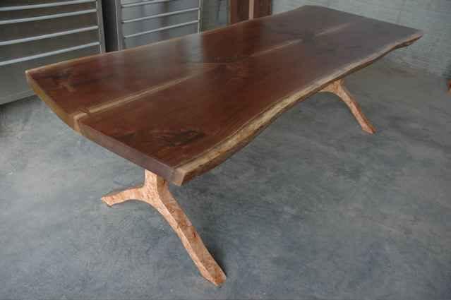 "The ""Binder"" walnut slab custom dining table"