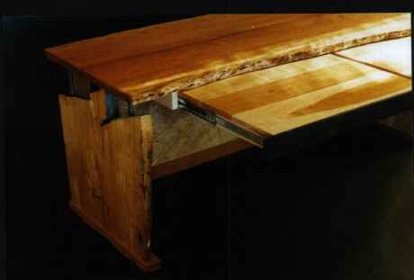 Cherry and Ash Handmade Rustic Custom Executive Computer Desk