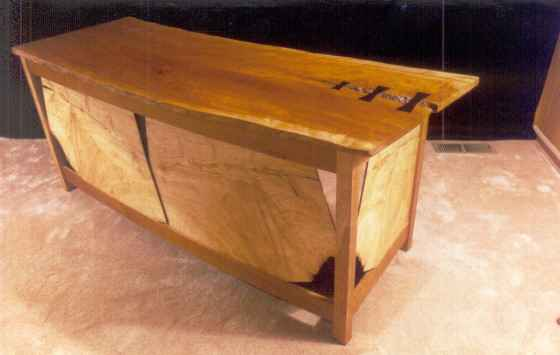 Custom executive desk with cherry slab top from the Lancaster area of Pennsylvania