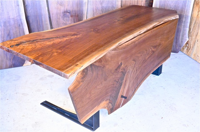 Walnut C Shaped Steel with Walnut Front