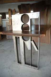 Handmade Recycled Steel Executive Custom Desk