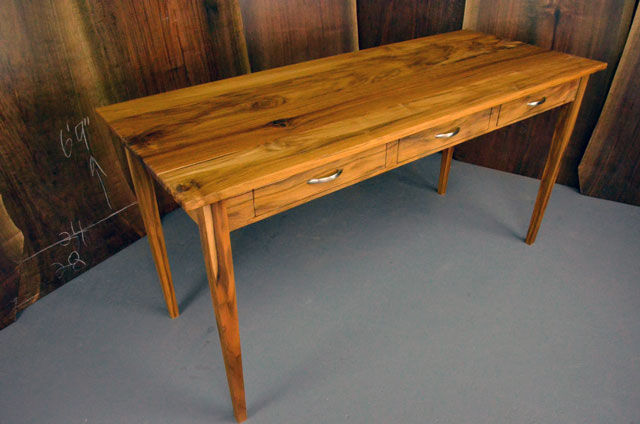 Teak Executive Desk with three drawers