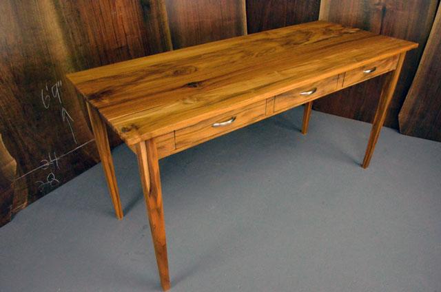 Teak Executive Desk With Three Drawers