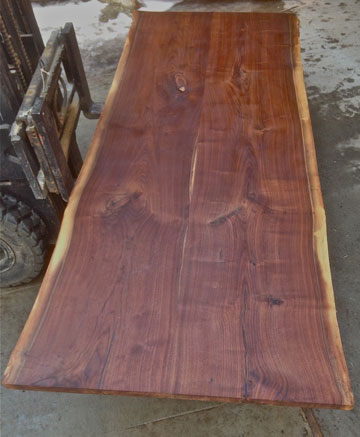 Custom wood slab table tops dumond 39 s custom furniture for 3 inch thick wood slab