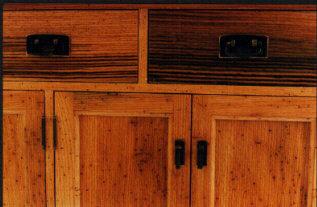 Custom Handmade Rustic Oak China Cabinet Hutch 2