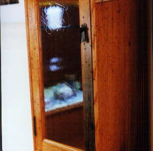 Custom Handmade Rustic Oak China Cabinet Hutch 3