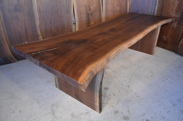 Custom Handmade Rustic Walnut Slab Dining Table