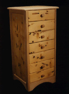 Custom Made Worm Holed Yellow Cedar Chest