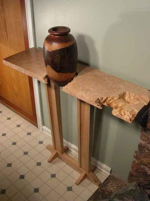Custom Maple Slab Hall Table