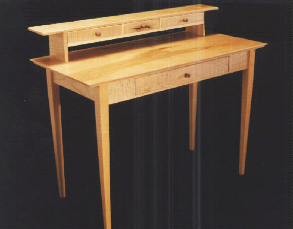 Unique Custom Maple Shaker Desk: By Dumond's Custom Furniture In Montana PB94
