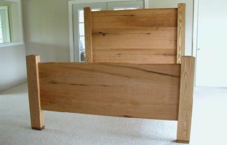 Custom Rustic Oak Bed