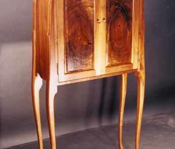 Custom Rustic Walnut Curio Cabinet Perfume Cabinet 1