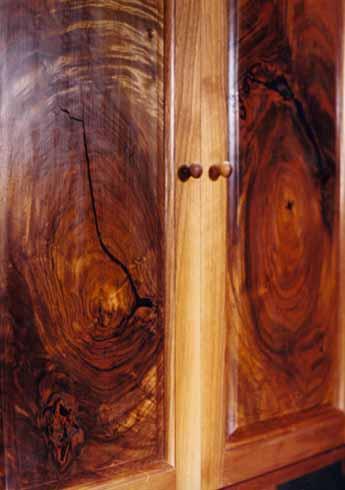 Custom Rustic Walnut Curio Cabinet Perfume Cabinet 2