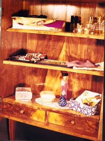 Custom Rustic Walnut Curio Cabinet Perfume Cabinet 3