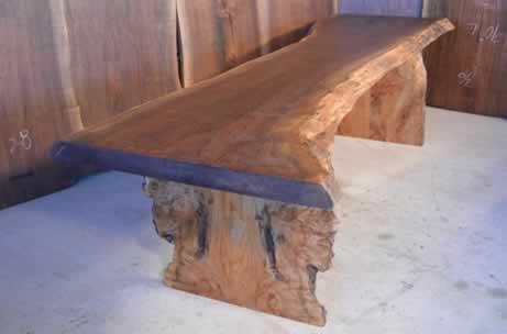 Custom Rustic Walnut Slab Dining Table