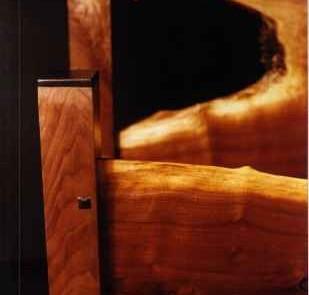 Custom Rustic Walnut Slab Log Bed 3