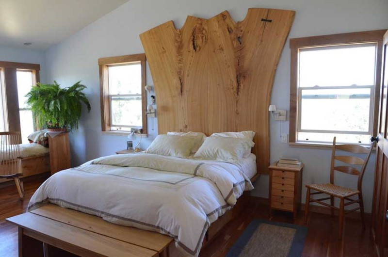 Natural Edge Siberian Elm Slab Bed