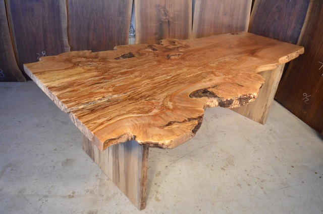 Custom Spalted Maple Burl Dining Table