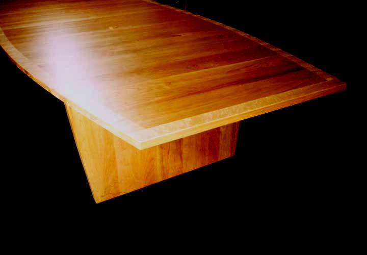 Cherry and birdseye maple corporate conference table