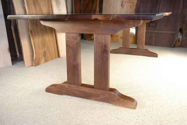 "A less ornate version of the ""Lind"" trestle table base"