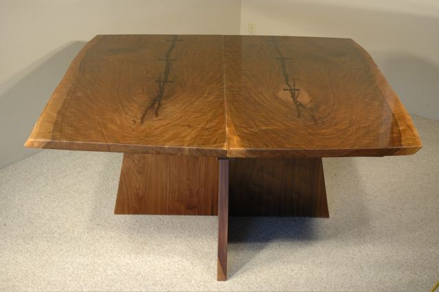 5' x 5' English Walnut Slab Dining Table