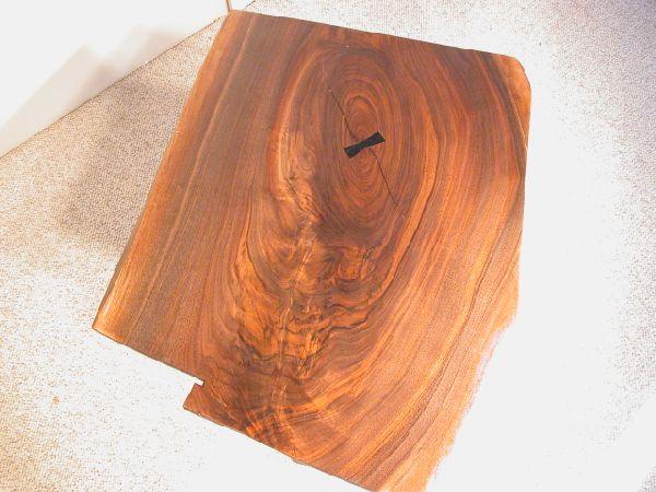 Custom Walnut Slab Coffee Table with Ebony Butterfly 2