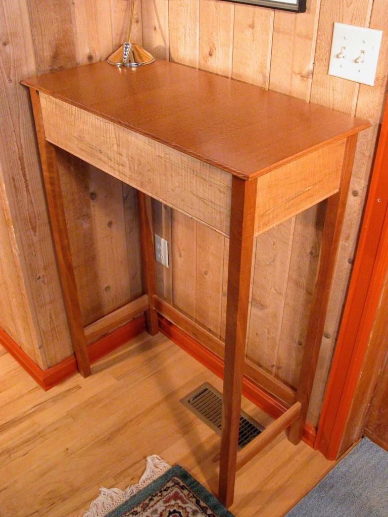 Custom Australian Lacewood Stand Up Desk