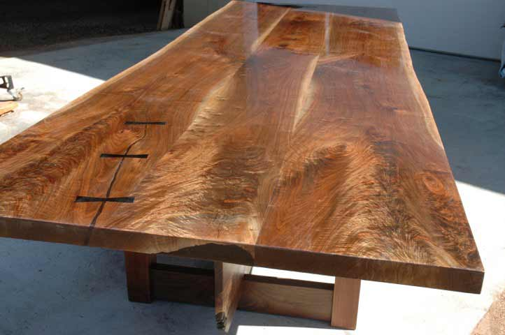 Triple Walnut Crotch Slab Table Top