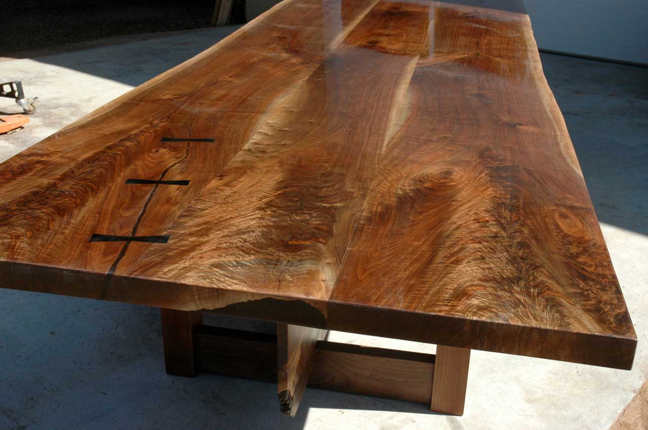 Thick figured crotch walnut top