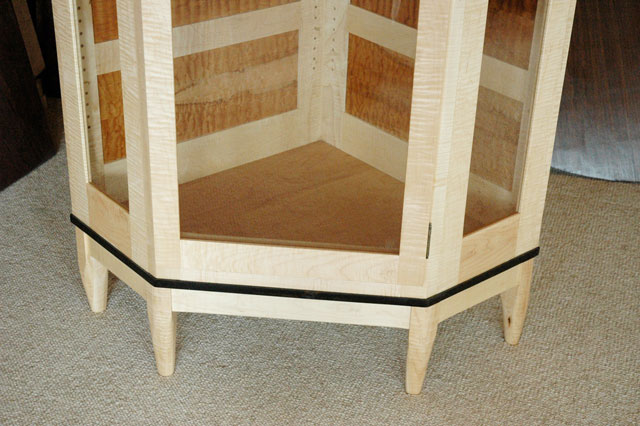 Custom Handmade Wooden Display Cabinet