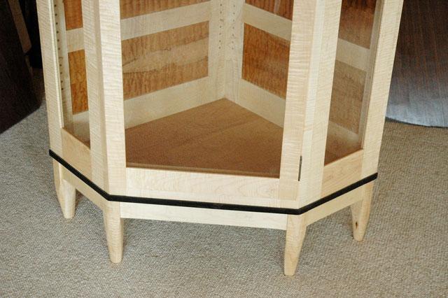 Custom Handmade Wooden Display Cabinet