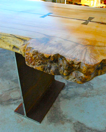Maple Burl Slab Custom Dining Table2