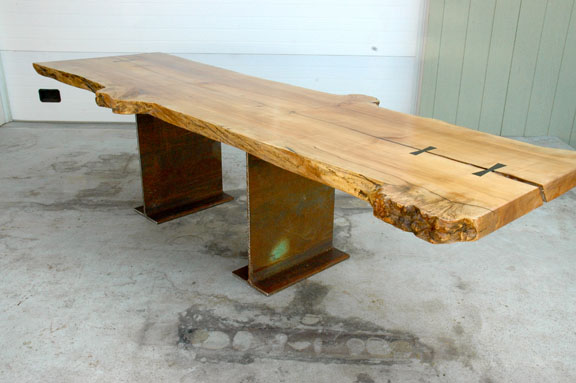 Maple Burl Slab Custom Dining Table