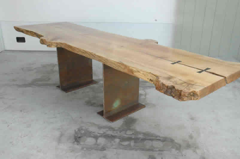 10 Foot Burled Maple Slab Nakashima Style Table
