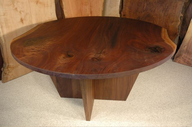 5' Round Reclaimed Custom Walnut Dining Table - Boettcher
