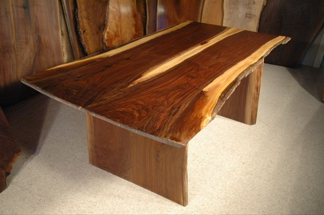 6′ Bookmatched Custom Walnut Live Edge Dining Table