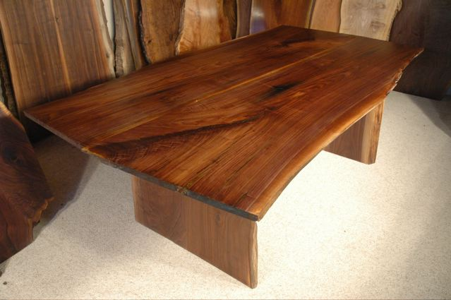 7′ Walnut Custom Live Edge Dining Table