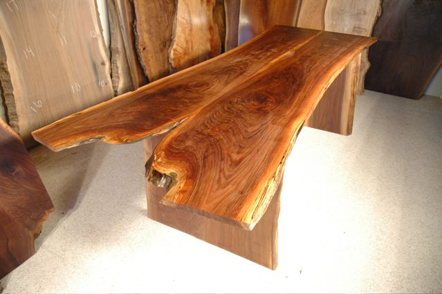 Organic 7.5′ Walnut Crotch Slab Custom Live Edge Dining Table
