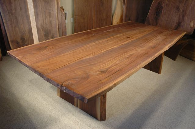 8.5′ x 46″ Large Walnut Live Edge Dining Table