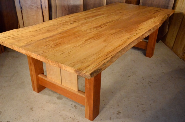 Reclaimed Old Wood Dining Room Table Spalted Curly Maple  : DSC2068 from dumonds.com size 640 x 423 jpeg 72kB