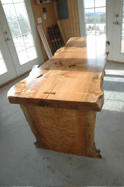 Dougherty Burled maple Slab Custom Desk-Teble