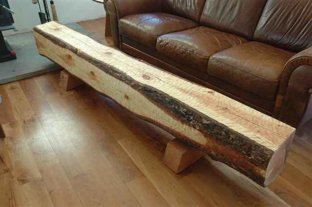 Hand Hewn Recycled Log Block Bench By Dumond S Custom